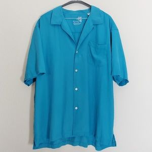 Tommy Bahamas Blue Button up Shirt